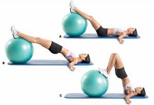Swiss Ball Hip Raise