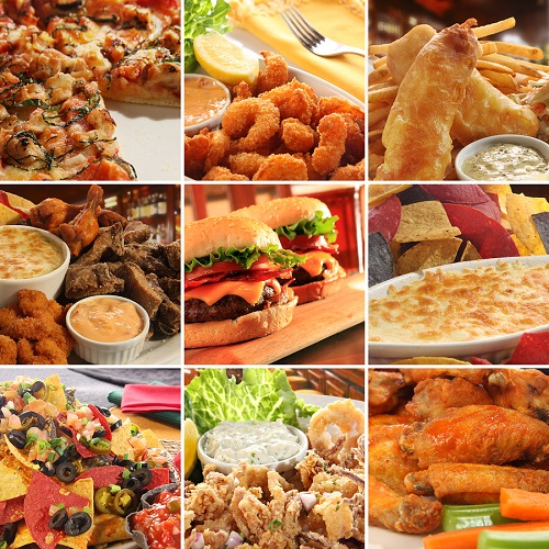 bigstock Collage of pub food including 15284801