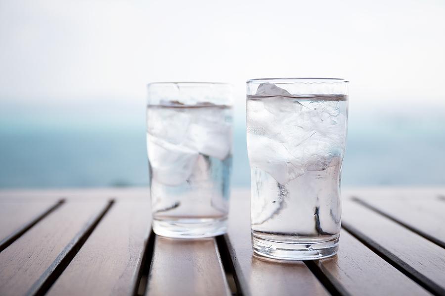 bigstock Glass of iced water at restaur 115403780