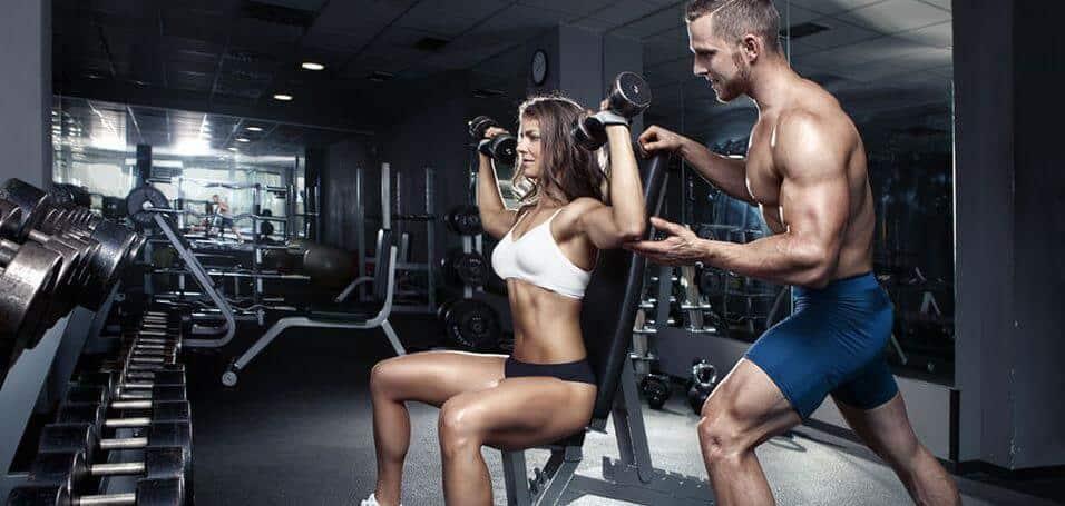 couple workout gym