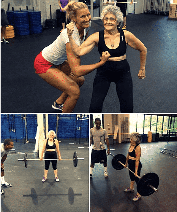 Φωτογραφία της ημέρας : Η Γιαγιά μου κάνει Bodybuilding 1