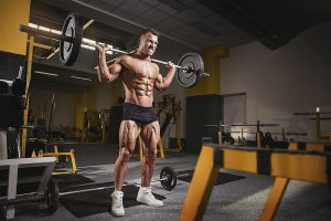 man workout lifts