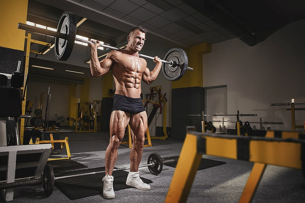 man workout lifts