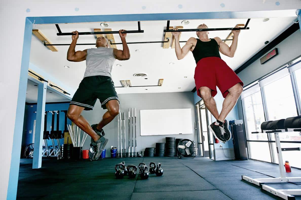 two men workout